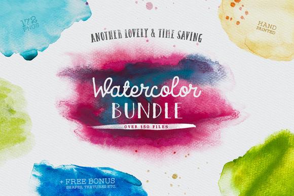 Lovely Watercolor Bundle Vol 01