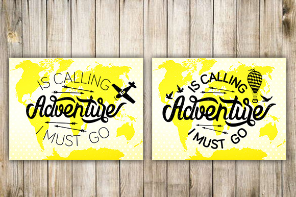Adventure. Hand Lettering. - Illustrations