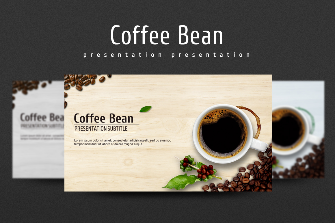 coffee bean presentation templates on creative market. Black Bedroom Furniture Sets. Home Design Ideas