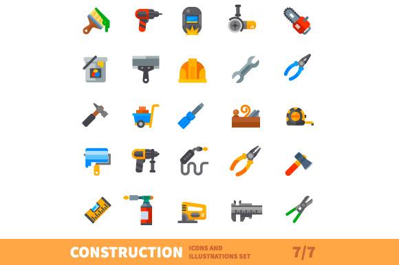 Construction set. Big bulding icon v - Illustrations