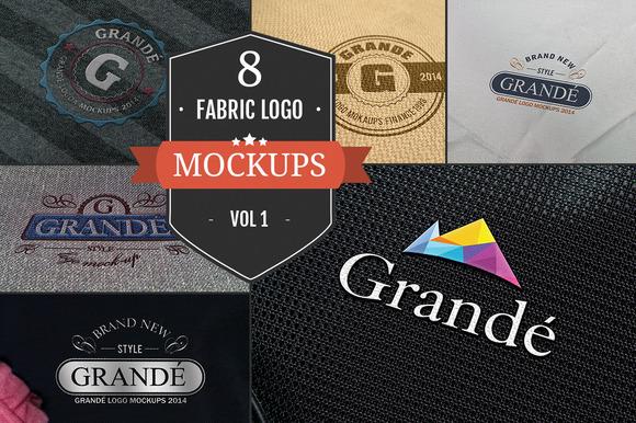 8 Awesome Fabric Logo Mockups Vol.1 - Product Mockups