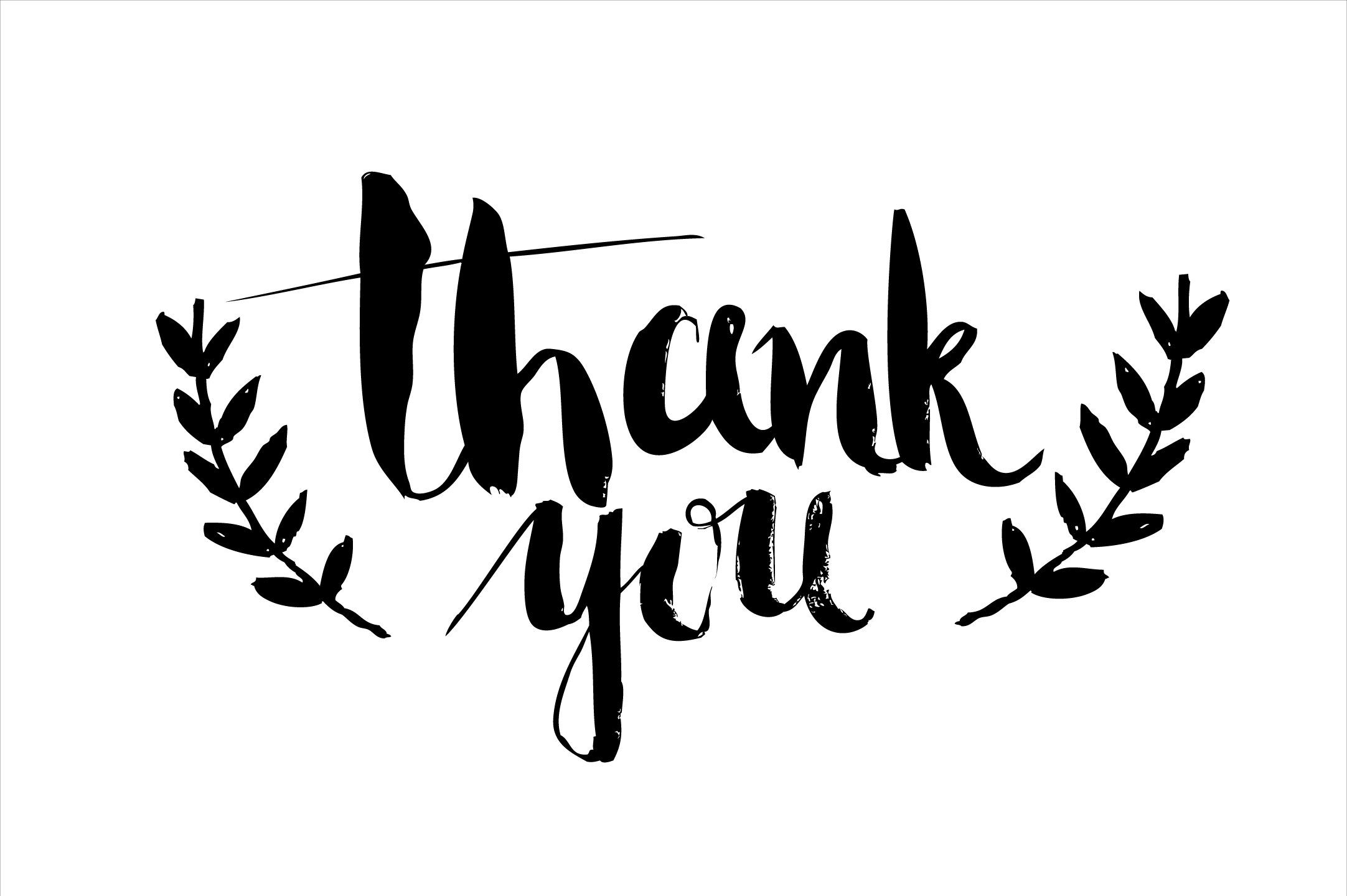 Thank you calligraphy in vector web elements on creative Thank you in calligraphy writing