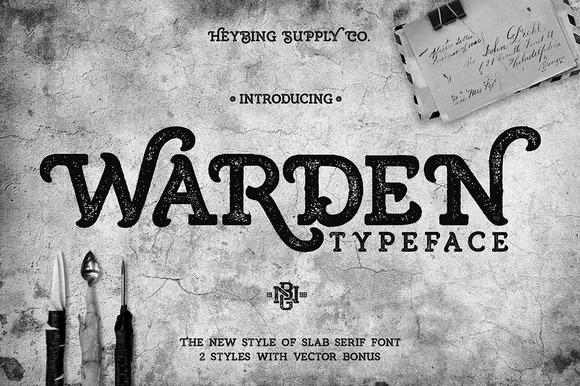 Warden Typeface Bonus Extras