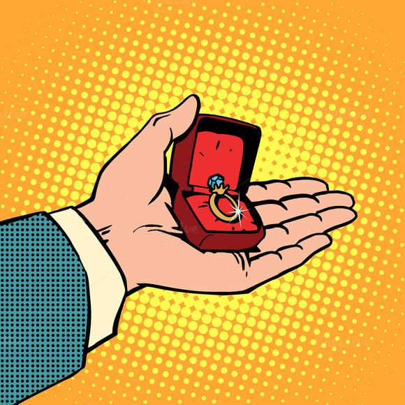 Wedding Engagement Ring Man Hand