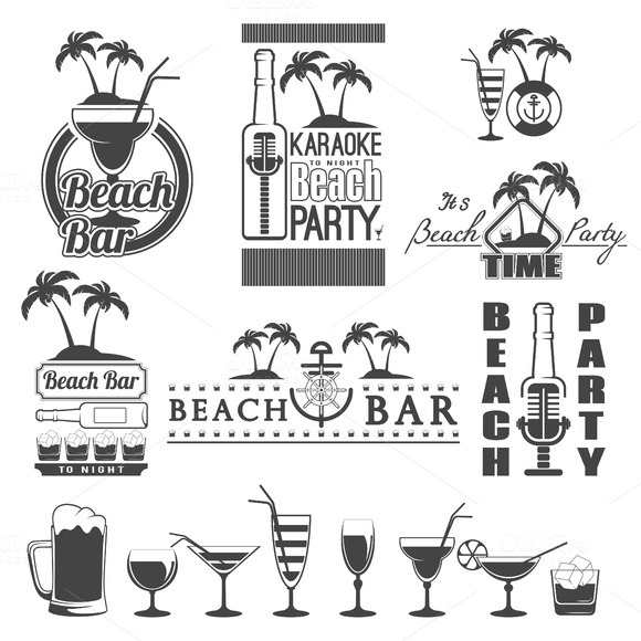 Retro Summer Labels And Signs