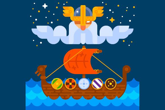 Viking Ship Under Odin S Control