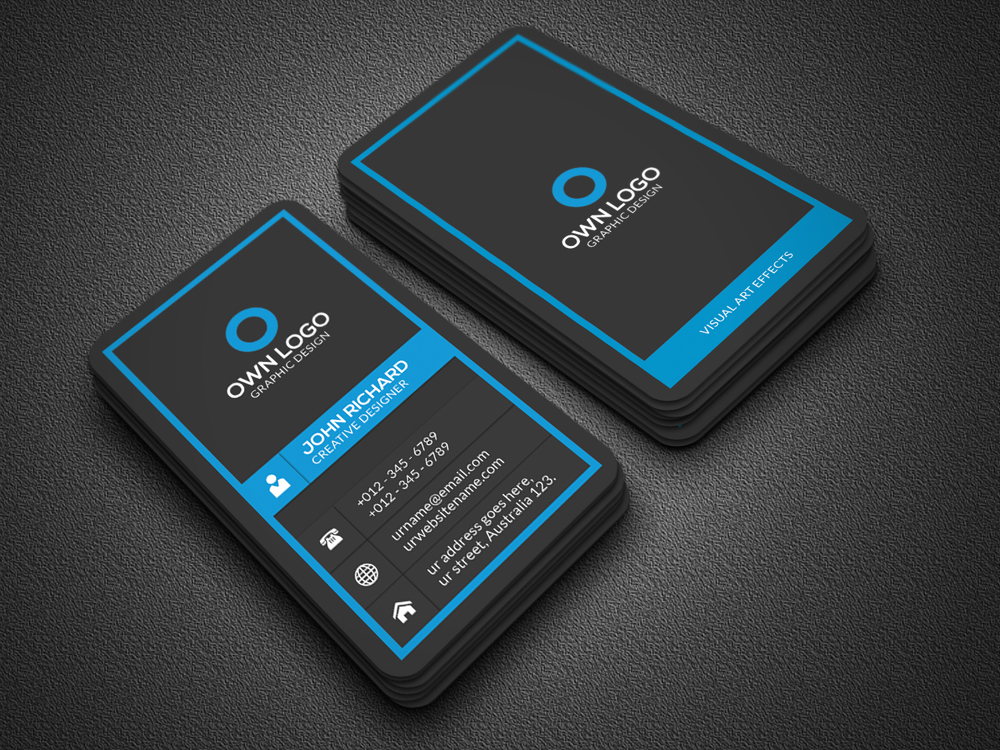 Vertical Business Card Business Card Templates on