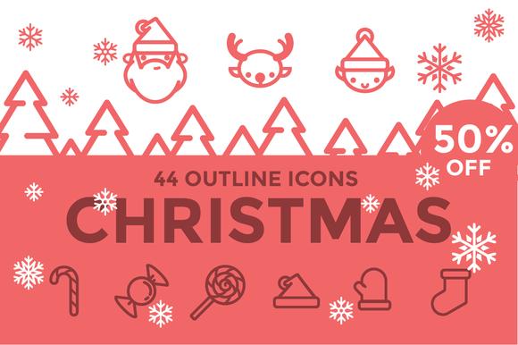 Christmas Icons Illustrations