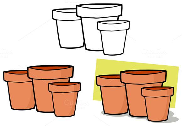 Terra Cotta Pots Collection Set