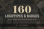 160 Vintage logotypes and b-Graphicriver中文最全的素材分享平台