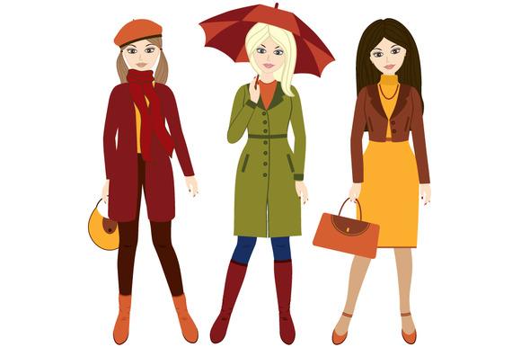 Autumn Girls ~ Illustrations on Creative Market