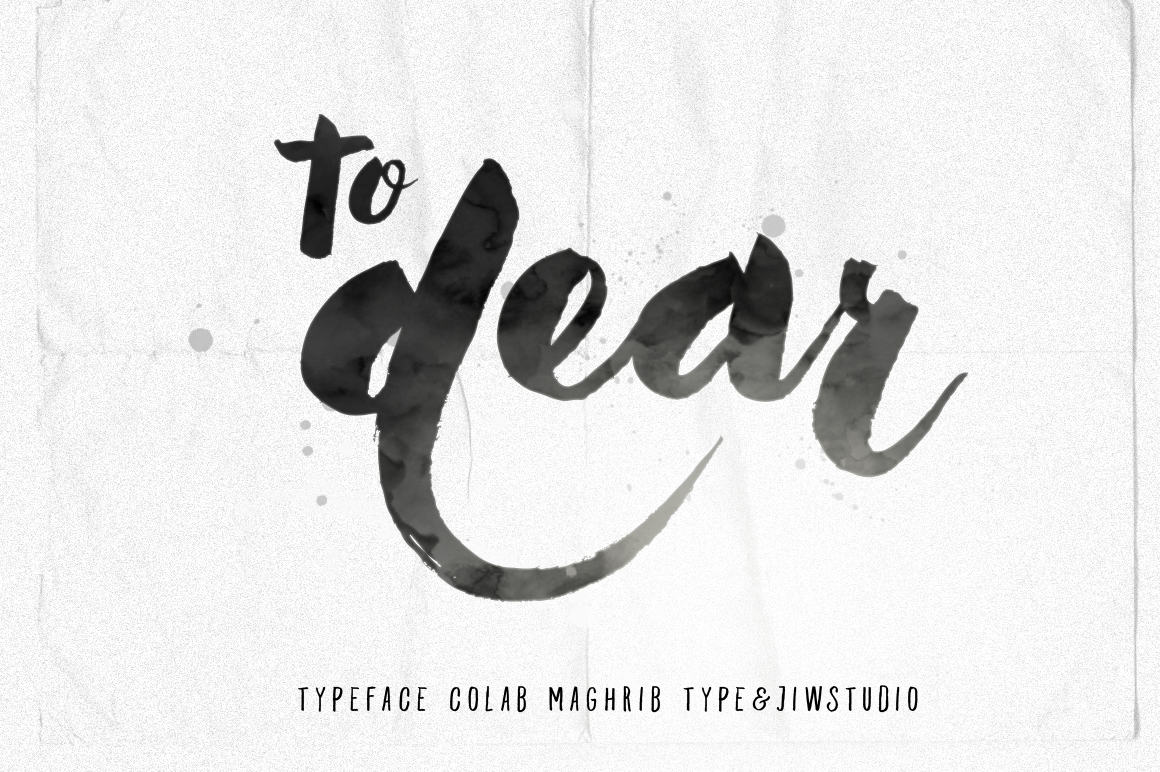 To Dear Typeface - Display - 1