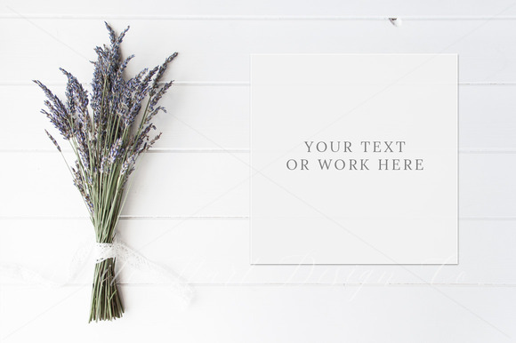 Styled Stock Photo Lavender Mockup