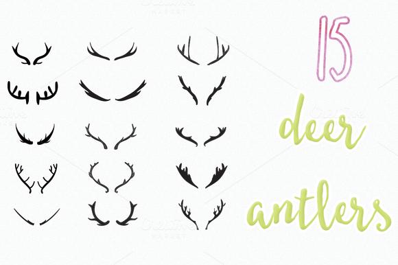 Deer Antlers Vectors