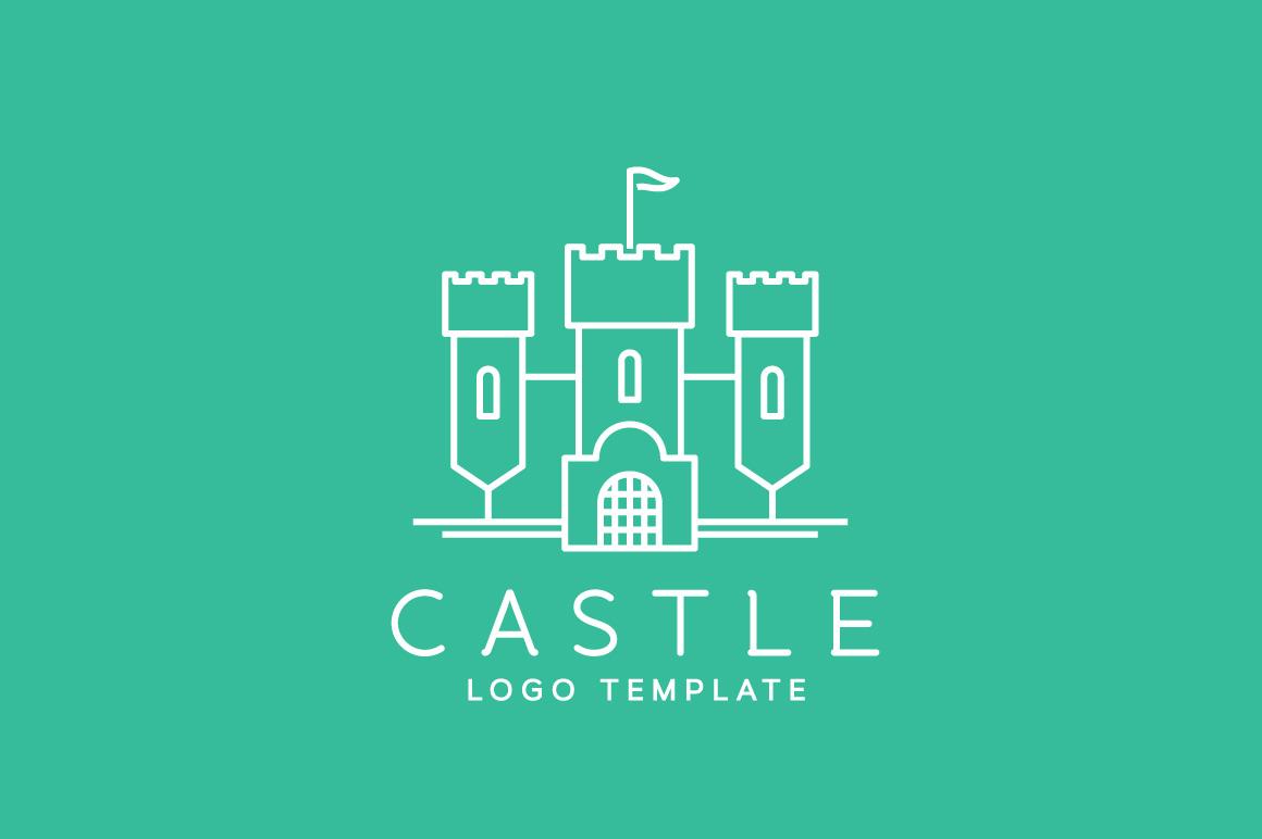 line style vector castle logos