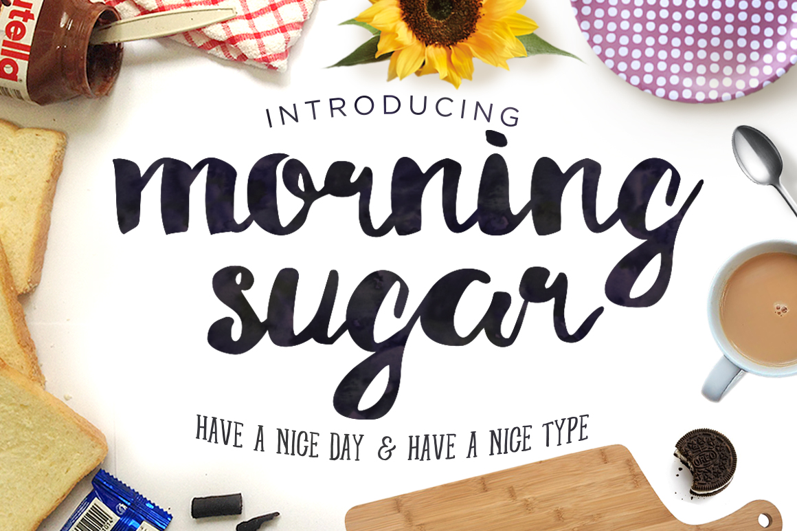 Morning Sugar Typeface + Extra ! - Display - 1