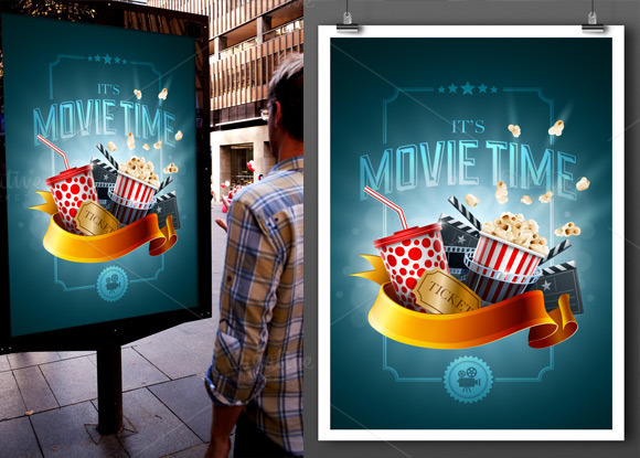 Variable Poster Mockup Template
