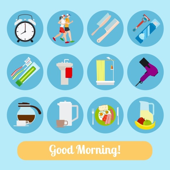 Good Morning Time Icons