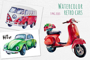 Watercolor cars