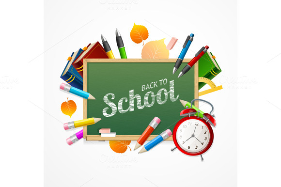 Back to School Concept. Vector - Illustrations