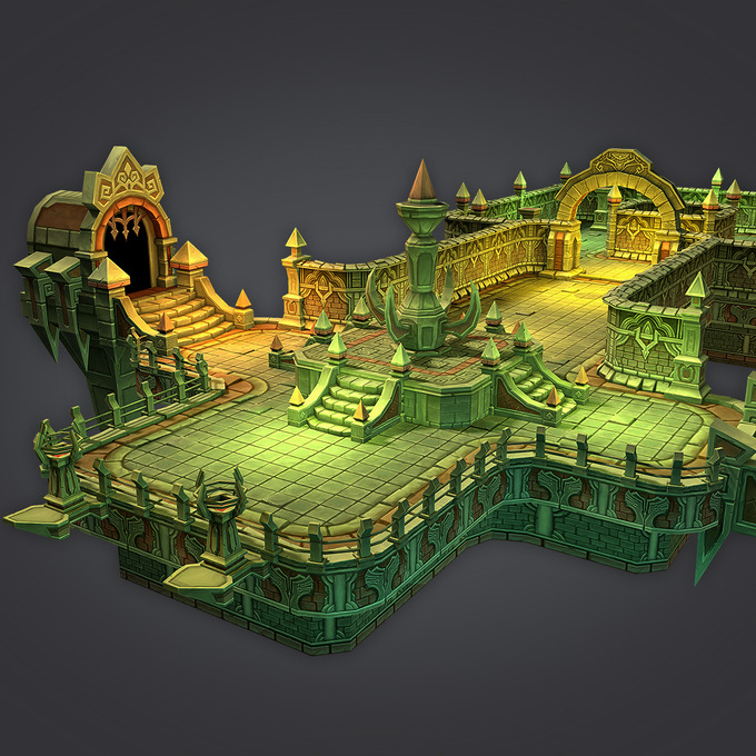 Cloudy Dungeon Set Architecture On Creative Market