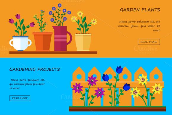 Flower shop. Vector flat - Illustrations