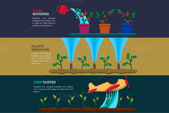 Agriculture Vector Banners