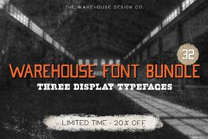 Warehouse Font Bundle - 20% Off!
