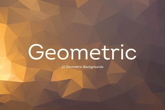 12 Geometric Backgrounds V1