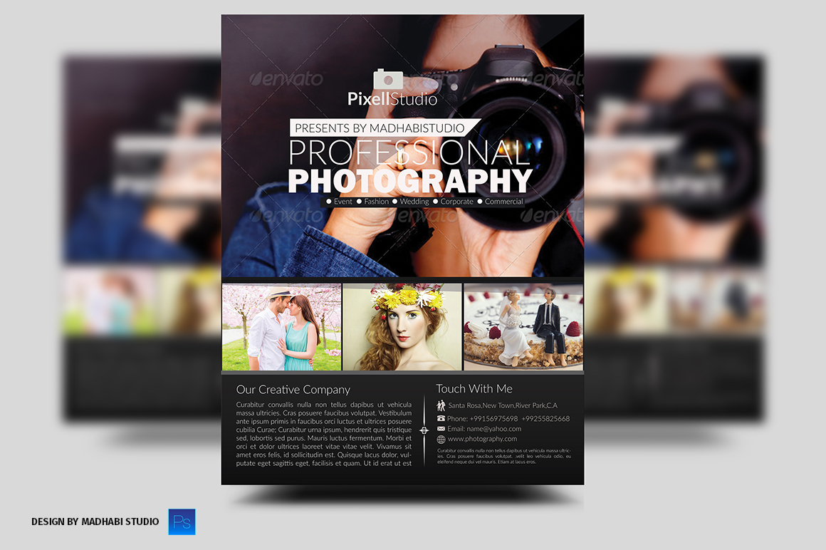 photography brochure template free - photography flyer flyer templates on creative market