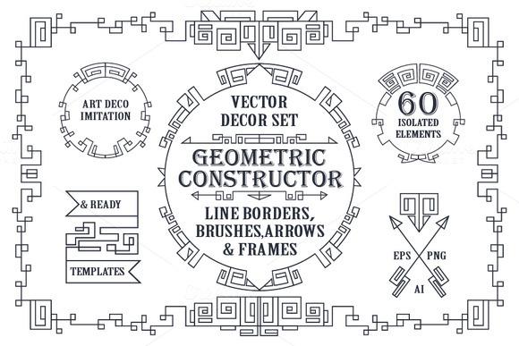 Geometric decor creator.Art Deco - Objects