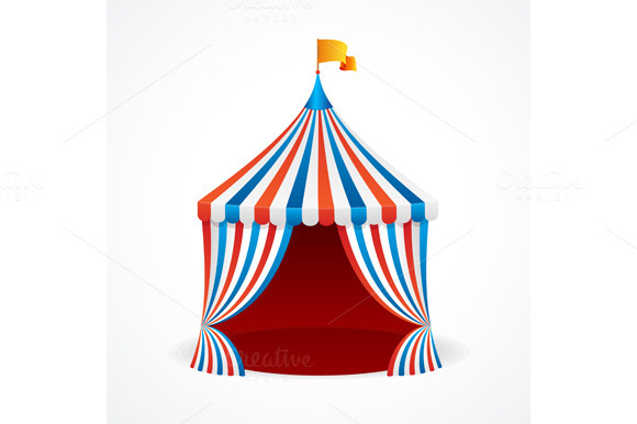 Circus Tent. Vector - Objects