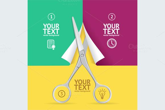 Scissors Cut Paper Option Banner