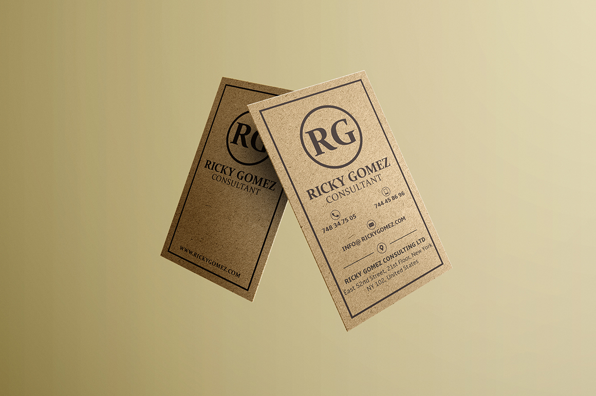 Kraft Paper Minimal Business Card Business Card
