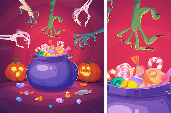 Trick or treat. Halloween poster - Illustrations