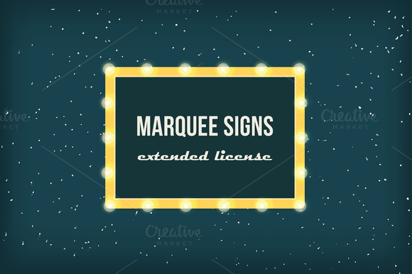 Marquee Lights Extended License