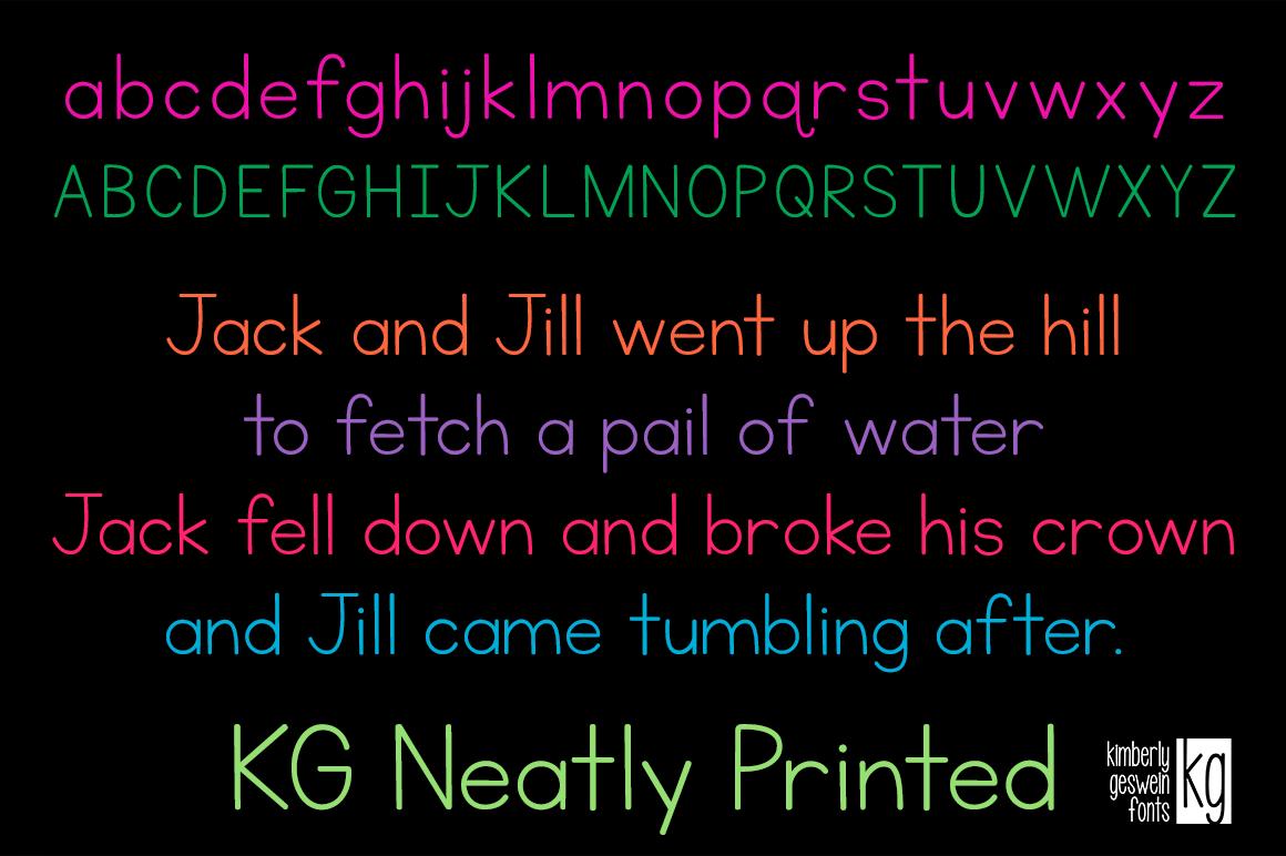 Kg Neatly Printed Sans Serif Fonts On Creative Market
