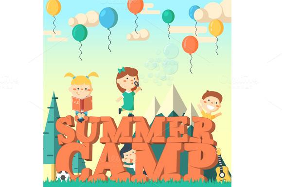 Summer Camp Illustration