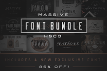 Massive Font Bundle - $10 Off (Ltd)