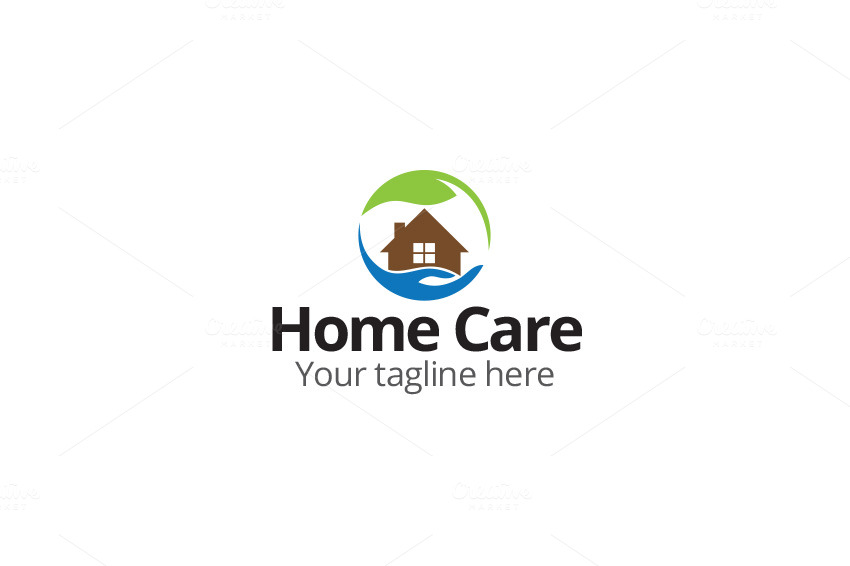 Home care logo logo templates on creative market - Home health care logo design ...