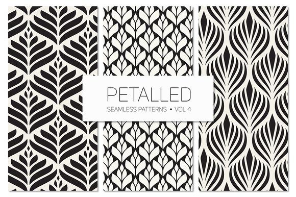 Petalled Seamless Patterns Set 4