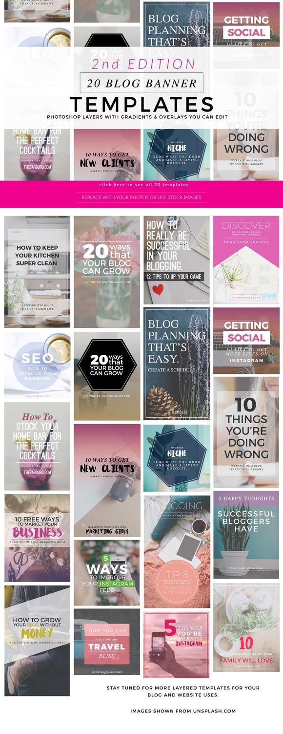 Blog Instagram Pinterest Banners 2