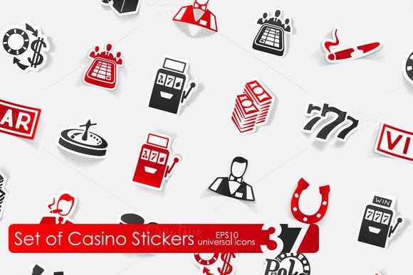 37 Casino Stickers