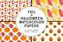 Watercolor Fall Halloween P-Graphicriver中文最全的素材分享平台
