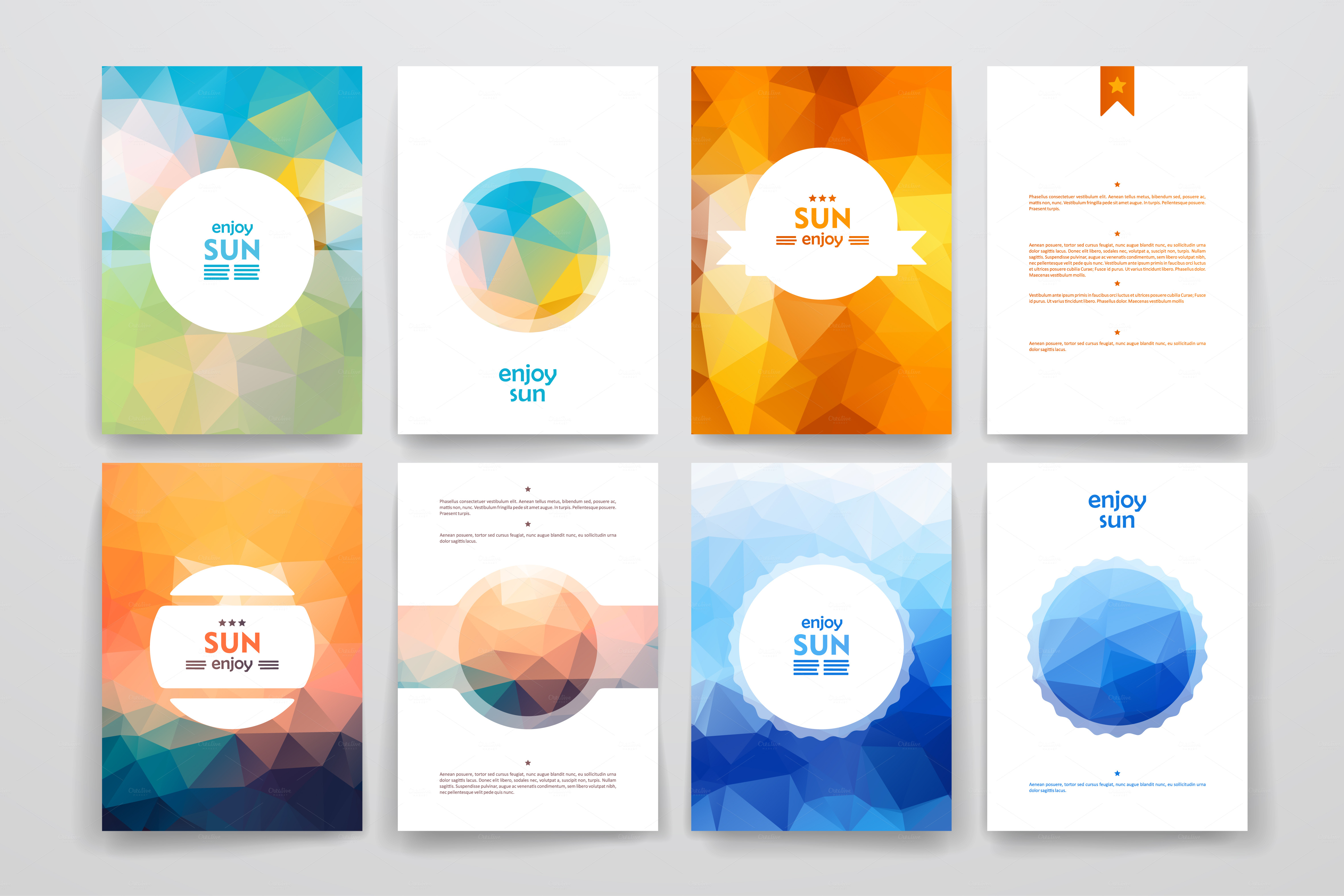 Sun brochures brochure templates on creative market for Editable brochure templates