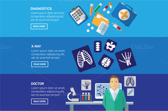 Ultrasound And X-ray Banner Set