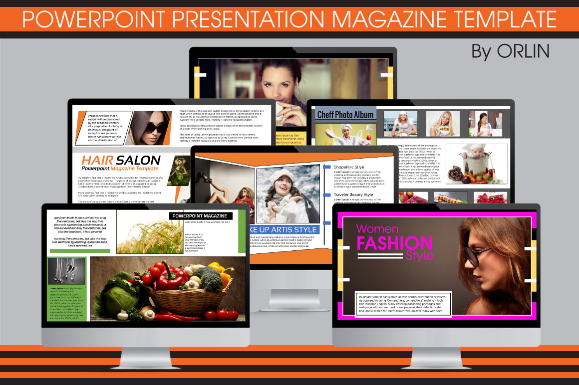 powerpoint magazine template presentation templates on