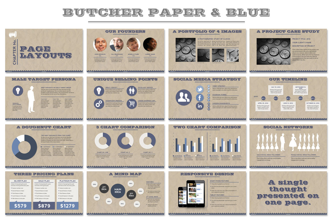 Butcher Paper Powerpoint Template ~ Presentation Templates ...