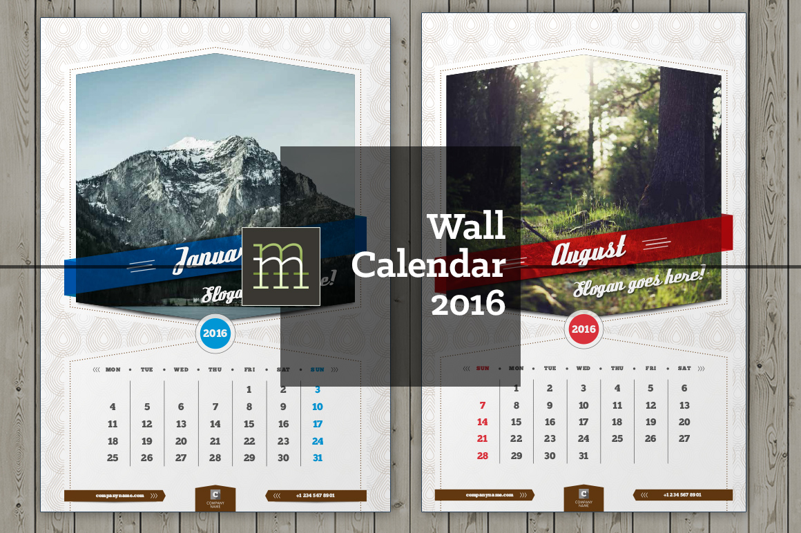 Creative Wall Calendar Design : Wall calendar wc stationery templates on