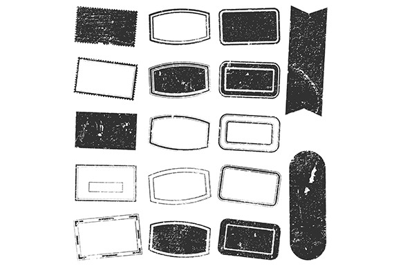 Distress Rectangle Stamp Set